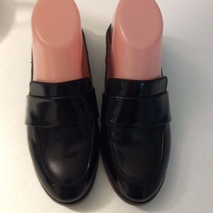 Madewell  Patent Leather Mules  Size 7 Black